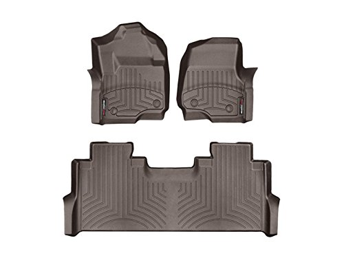 Weathertech DigitalFit 471012-1-2 – First and Second Row All Weather Floor Liners for 2017 Ford F-250/F-350/F-450/F-550 SuperCrew Cocoa