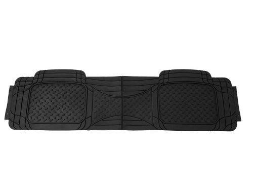 FH GROUP FH-V11307R010 Semi Custom Trimmable Vinyl Rear Floor Mats Black for Sdean, SUV and Van
