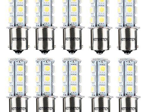 HOTSYSTEM 1156 7506 1003 1141 LED SMD 18 LED Bulbs Interior RV Camper White 10-pack