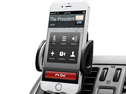 BUDGET & GOOD Universal Smartphones Car Air Vent Mount Holder Cradle, Black