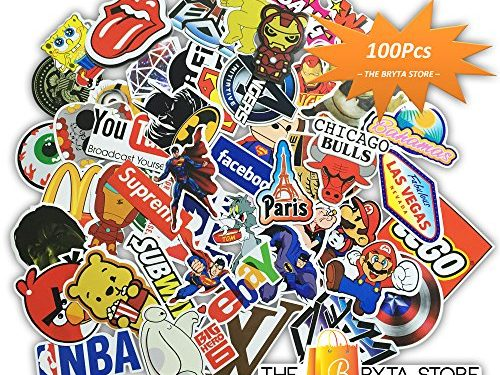 MEGA Cool Graffiti Stickers Decals Vinyls   Pack of 100 Finest Quality   Perfect To Personalize Laptops, Skateboards, Luggage, Cars, Bumpers, Bikes, Bicycles   The Bryta Store