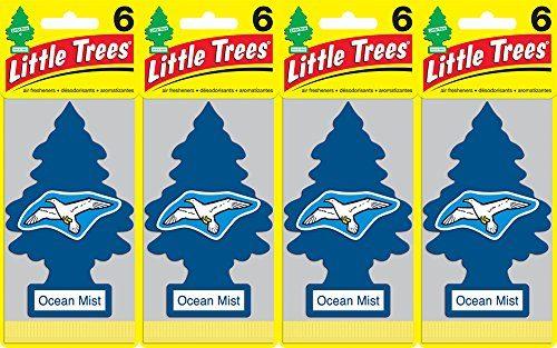 Little Trees Ocean Mist Air Freshener, Pack of 24