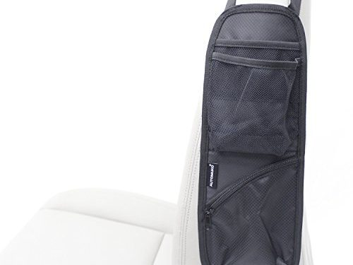 Automuko Seat Side Organizer, For Use On Any Front Passenger Car Seats For Cars, Trucks, Mini Vans And SUVs With One-Year Limited Warranty