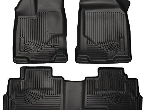 2012-2016 Dodge Ram 1500-Weathertech Floor Liners-Full Set Includes 1st and 2nd Row-Crew Cab; Vehicles with Hooks On Driver and Passenger Side-Black