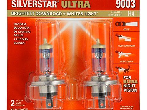 SYLVANIA 9003/H4 SilverStar Ultra Halogen Headlight Bulb, Contains 2 Bulbs