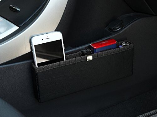 KMMOTORS Ultra Slim Side Pocket Black,Car Seat Side Organizer,Car Pockets