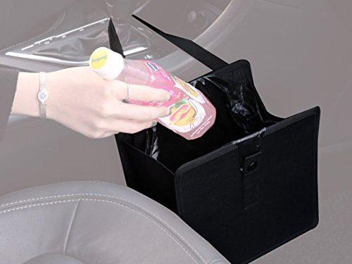 KMMOTORS Jopps Wastebasket Black Garbage Can
