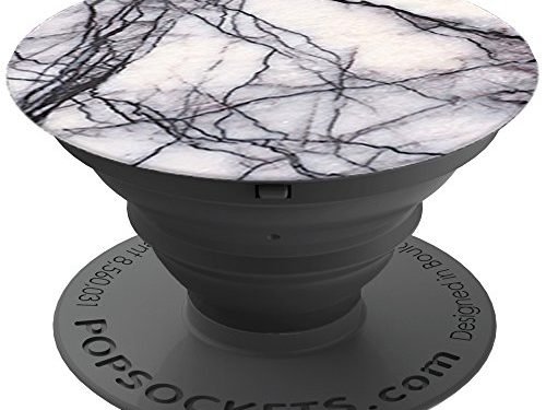 White Marble – PopSockets: Expanding Stand and Grip for Smartphones and Tablets