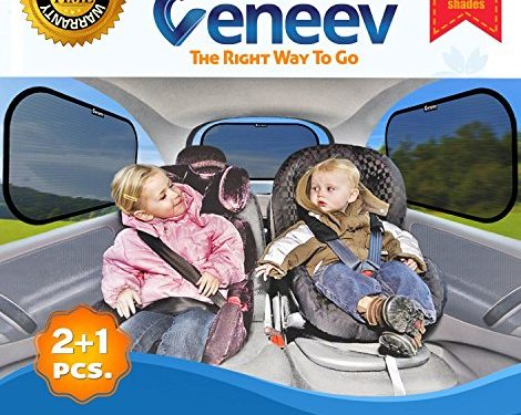 Veneev 3191817, Sun Shade for Side and Rear Window 3 Pack- Car Sunshade Protector- Includes 3 sun shades