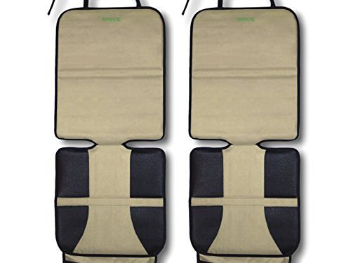 Ultimate Cover Pad Protects Automotive Vehicle Leather or Cloth Upholstery – Car Seat Protector, Tan 2-Pack by Drive Auto Products – Best Protection for Child & Baby Cars Seats, Dog Mat