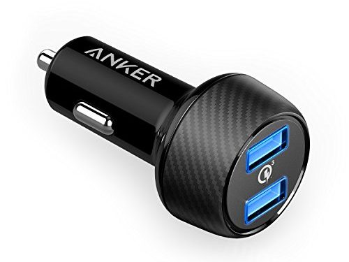 Anker Quick Charge 3.0 39W Dual USB Car Charger, PowerDrive Speed 2 for Galaxy S7 / S6 / Edge / Plus, Note 5 / 4 and PowerIQ for iPhone 7 / 6s / Plus, iPad Pro / Air 2 / mini, LG, Nexus, HTC and More