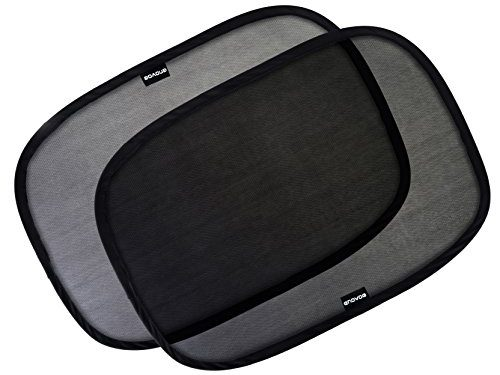 Car Window Shade – 21″x14″ Cling Sunshade For Car Windows – Baby Side Window Car Sun Shades By Enovoe – Sun, Glare And UV Rays Protection For Your Child – 3 Pack