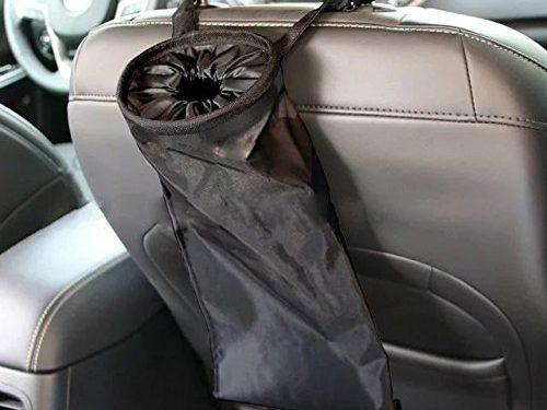 IPELY Car Vehicle Back Seat Headrest Litter Trash Garbage Bag Black-Set of 2