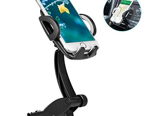 Bestfy Car Mount, Dual USB Universal Car Charger Holder Mount Goose-neck with Cigarette Lighter Chargers for iPhone/Samsung/HTC/Sony/Moto/LG and more Smartphones
