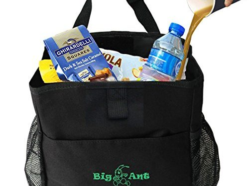 Big Ant Waterproof Car Trash Bag for Little Leak Proof – Car Garbage Bag with Side PocketBlack