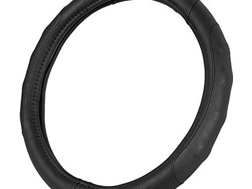GripDrive Pro Synthetic Leather Auto Car Steering Wheel Cover Black Comfort Grip – Small 13.5 to 14.5 inch