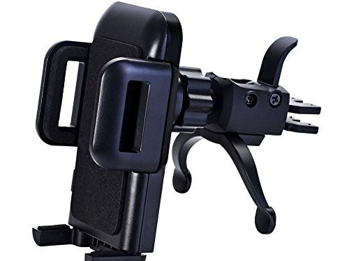 Car Mount,U-good Air Vent Car Phone Mount Holder Cradle with Kickstand/Quick Release Button/One Touch Grip Vent Tech,for iPhone 7/7 Plus,6s Plus,Galaxy S8 S7 Edge and All Cell Phones Smartphones