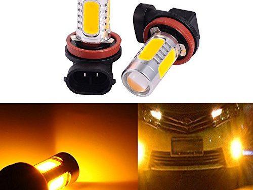 Yellow – 2 PCS Car H8 H11 33-SMD LED Xenon Head Light Headlight Bulbs Lamp or Daytime Running Lights Lighting DRL 12V 7.5W