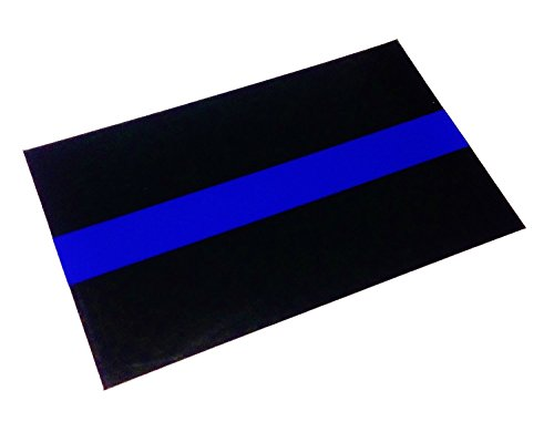 Reflective Police Thin Blue Line Bumper Decals 2 Pack 4