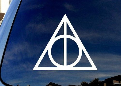 Deathly Hallows Harry Potter 2 Stickers of 2″ Die Cut Vinyl Car Decal Sticker for Car Window Bumper Truck Laptop Ipad Notebook Computer Skateboard Motorcycle