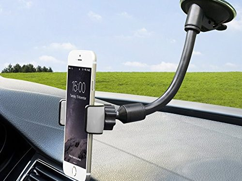 Car Mount, SuperGear Flexible Arm Universal Windshield Cell Phone Holder with Strong Suction Cup for iPhone SE 7 Plus 6s 6 Plus 6 5s 5 4s 4 Samsung Galaxy S6 S5 S4 LG Nexus Sony Nokia and More