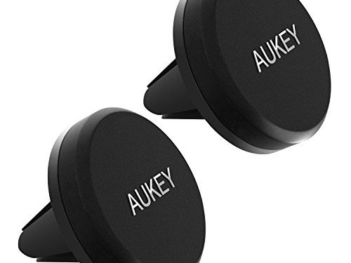 AUKEY Car Mount, Air Vent Magnetic Phone Holder for iPhone 7, 6S, Plus, Samsung and Other Android, Windows Smartphones 2 Pack