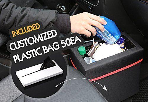 KMMOTORS Aladdin Wastebasket Car GARBAGE CAN including 50PCS PLASTIC BAG Black