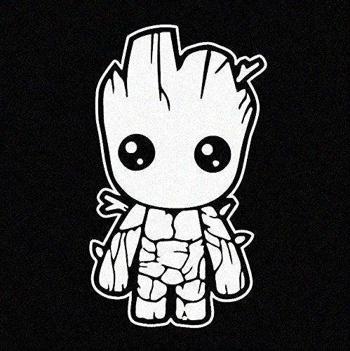 White Vinyl Decal Baby Groot Guardians Of The Galaxy Bipflip