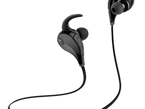 SoundPEATS QY7 Bluetooth 4.1 Wireless 6 Hours Play-time Noise Cancelling Sport In-Ear Stereo Earphones with Mic Black