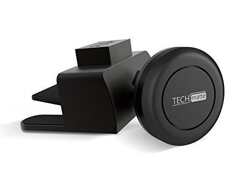 Car Mount TechMatte MagGrip Mini CD Magnetic Car Mount Holder for Smartphones including iPhone 7, 6, 6S, Galaxy S8, S7, S7 Edge – Black