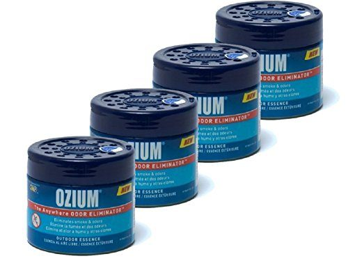 Ozium Smoke & Odors Eliminator Gel. Home, Office and Car Air Freshener 4.5oz 127g, Outdoor Essence Scent 4 pack