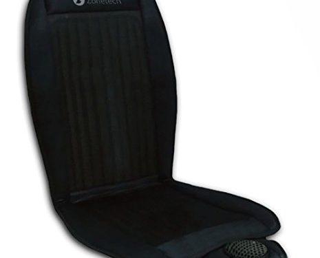 Black 12V Automotive Adjustable Temperature Comfortable Cooling Car Seat Cushion – Zone Tech Cooling Car Seat Cushion