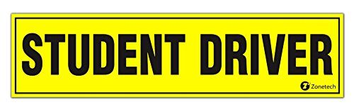 "Zone Tech ""Student Driver"" Vehicle Bumper Magnet- Premium Quality ""Student Driver"" Bumper Safety Sign Magnet"
