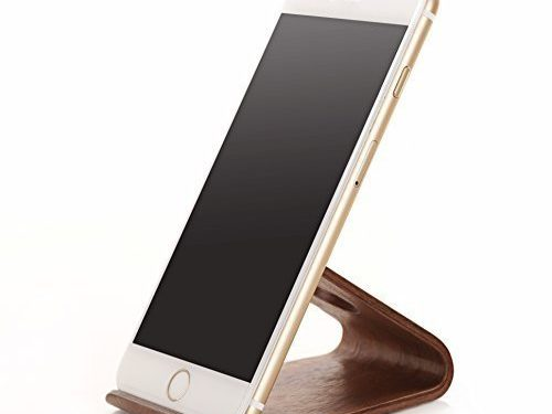 Samdi New Wooden Cell Phone Stand or Cell Phone Holder,a Good Cell Phone Decorations,for All Kinds of Brand Cell Phone Such As Iphone Samsung Nokia Htc Huawei Sony Mi Moto and so on Blackwalnut Color
