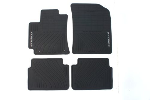 Genuine Toyota Accessories PT908-02110-20 Front and Rear All-Weather Floor Mat – Black, Set of 4