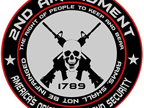 2nd Amendment – America's Original Homeland Security Round Bumper Sticker Decal 5 Inch