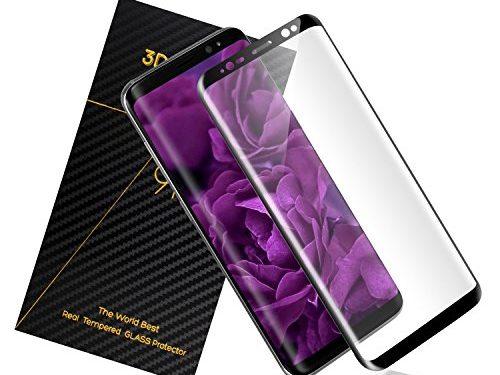 EverDigi Samsung Galaxy S8 Screen Protector, Anti-Scratch, Full Coverage, HD Clear, Tempered Glass Screen Protector for Samsung Galaxy S8, Black