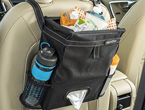 High Road Puff'nStuff Car Trash Bag Organizer and Tissue Holder Black