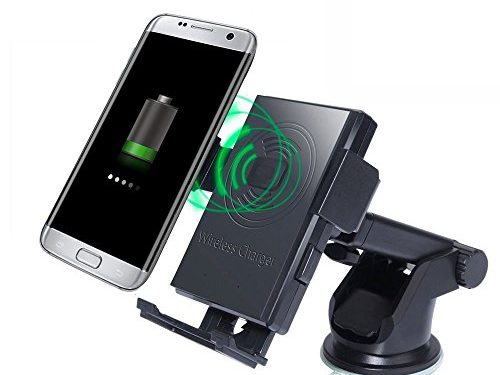 Wireless Charger, Rodzon Car Holder and Qi Wireless 2-in-1 Cellphone Mount, Charging Pad for Qi Enable Devices, Samsung Galaxy S7/S7 Edge, Galaxy S6/S6 Edge/Plus