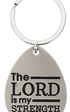 Christian Gifts Lord is My Strength Metal Pendant Keychain Key Tag