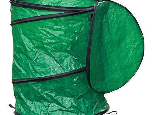 World Pride 28 Gallon Polyethylene Portable Garbage Collapsible Pop-up Camping Trash Can Green for Travel