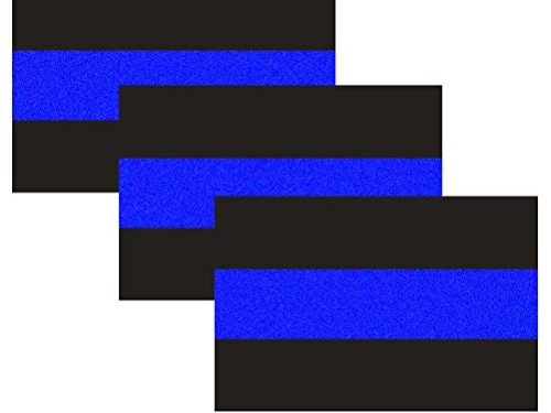 3 Pack Reflective Police Thin Blue Line Bumper Decal Stickers 4″ x 2.6″for Cars & Trucks, Honoring Police Law Enforcement Vinyl Window Laptop Tape