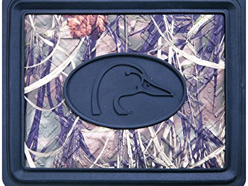 Ducks Unlimited Rear Utility Floor Mat Realtree MAX-4 Camo, Durable Molded PVC, Sold Individually