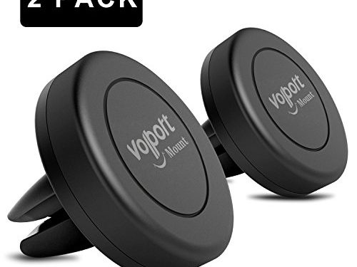 Car Mount, Volport 2 Pack Universal Magnetic Air Vent Mount Car Cradle Cell Phone Holder for Apple iPhone iPod Samsung Galaxy LG HTC Motorola Nokia, Android Smartphone and GPS Devices