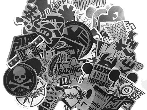 DreamerGO Cool Graffiti Stickers 55 Pieces Various Car Motorcycle Bicycle Skateboard Laptop Luggage Vinyl Sticker Graffiti Laptop Luggage Decals Bumper Stickers 55 Pieces