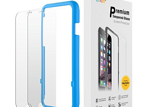 iPhone 7 6s 6 Glass Screen Protector, Otium Tempered Glass Screen Protector with Applicator 4.7 Inches Only Compatible with iPhone 7, iPhone 6s, iPhone 6 2-Pack