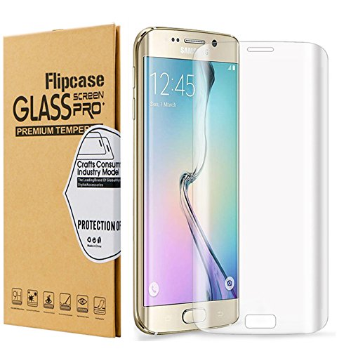 Galaxy S7 Edge Screen Protector,Samsung S7 Edge Screen Protector,Flipcase Full CoverageTempered Glass Screen Protector for Samsung Galaxy S7 Edge