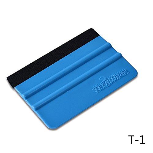 TECKWRAP Plastic Felt Edge Squeegee 4 Inch for Car Vinyl