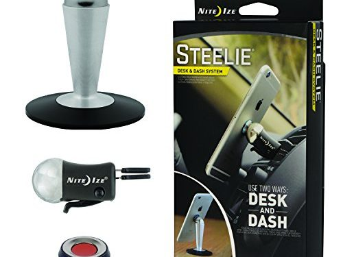Nite Ize Original Steelie Desk and Dash System – Magnetic Smartphone Mounting System for Your Car Vent and Workspace