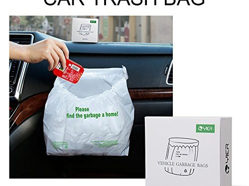 YIER Car Trash Bag Leakproof ,Waterproof,4-pcs